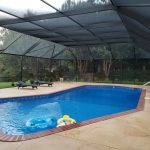 Pool enclosure by Backyard Paradise at a Gulf Coast home.